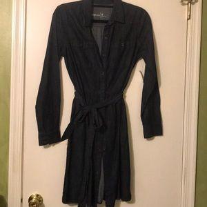 Denim tie dress